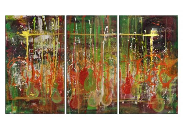 """Mehrteiliges Gemälde, C.D. Schwartz: """"Linterna verde"""""""