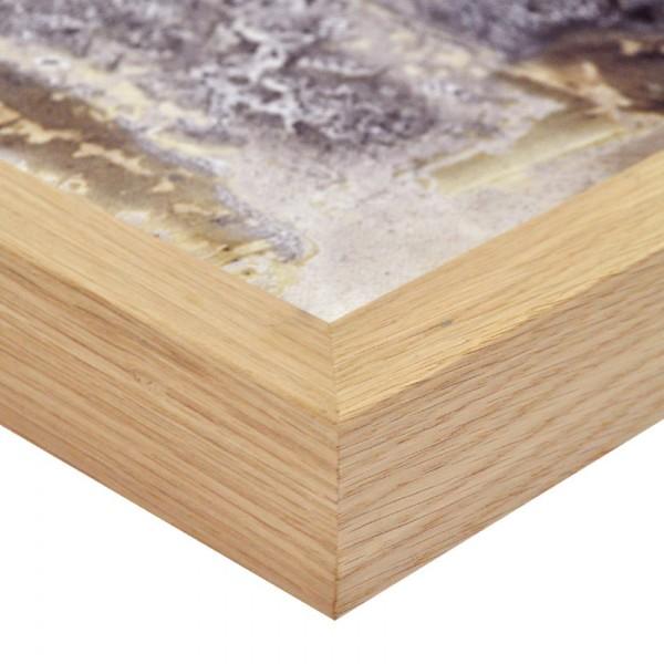Premium Bilderrahmen Holz Eiche HR-M2545A34-e, inkl. Blendrahmbleche