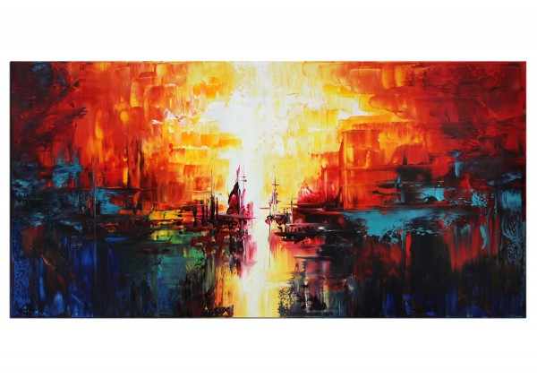 "Acrylgemälde, G. Hung: ""Lagunenstadt"""