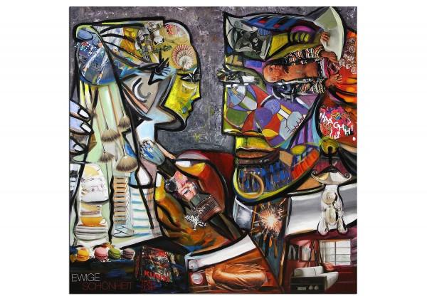 "Moderne Kunst, K. Namazi: ""Ewige Schönheit"", Originalgemälde (Unikat)"