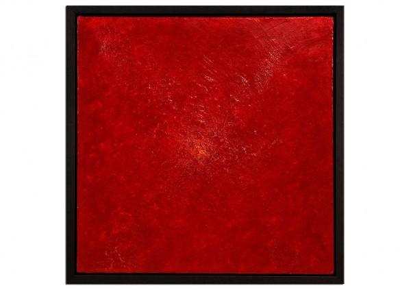 """Acrylgemälde, A.Garbe: """"ROT IN SCHICHTEN I"""""""