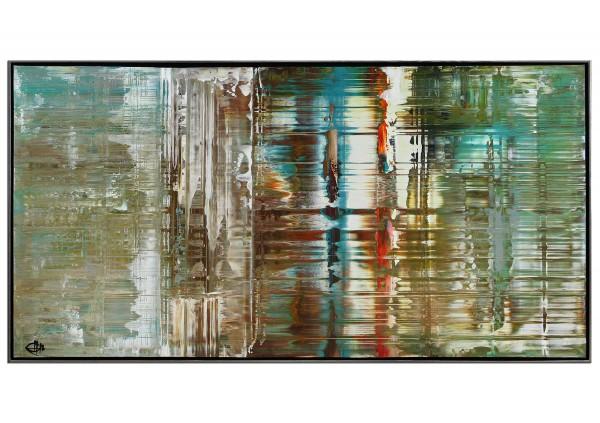 "RESERVIERT Acrylgemälde, G. Hung: ""Analytisches Raster II"" (ri)"