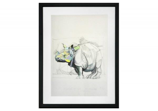 """Limitierter Kunstdruck, Stefan Petrunov: """"Rhino 2"""""""