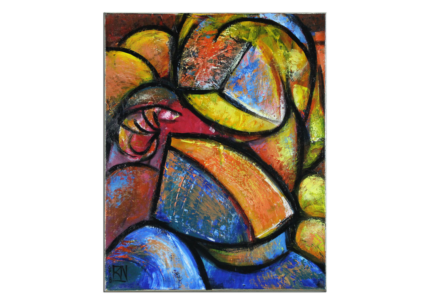 abstrakte kunstbilder  namazi kubistische romanze iii