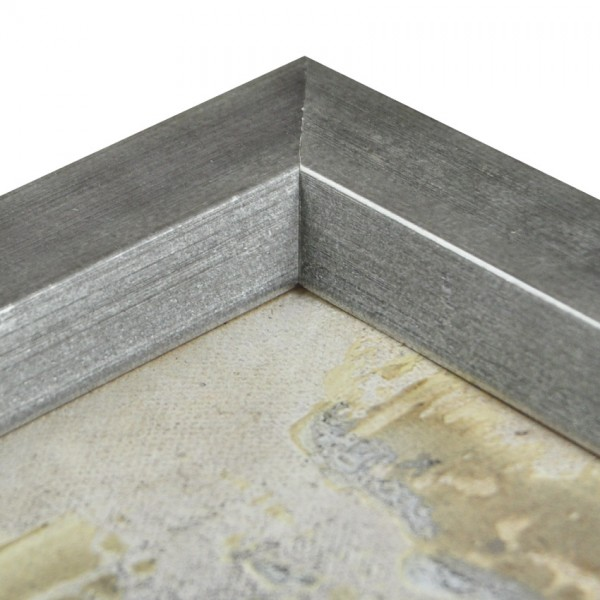Premium Bilderrahmen Holz Silber HR-350064-s, inkl. Blendrahmbleche