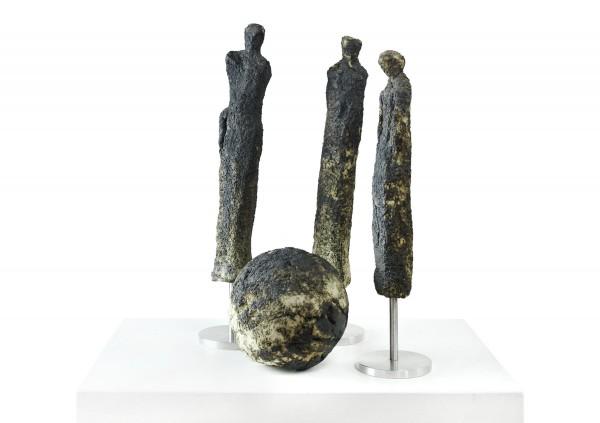"""Zeitgenössische Skulptur, Ilona Schmidt: """"Global Player"""" (A)"""