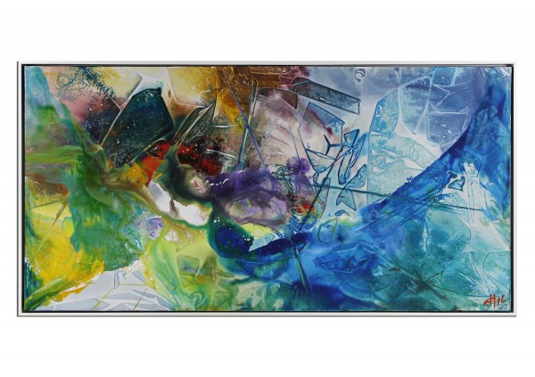 "Acrylgemälde, G. Hung: ""Zeit & Raum II"" (ri)"