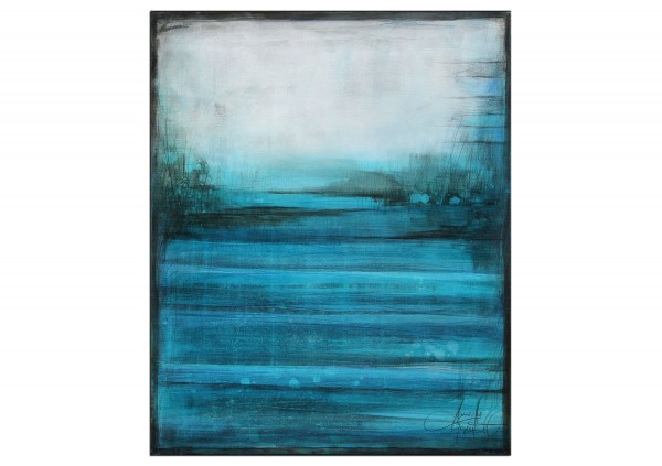 """Acrylbild von A. Freymuth: """"Deep blue Sea"""""""
