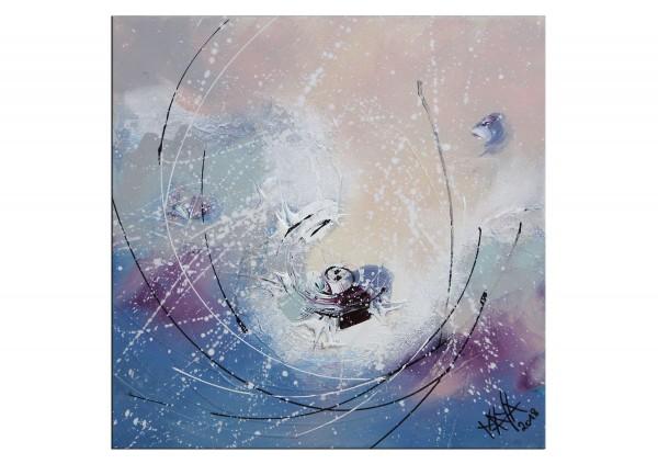 """Gemälde abstrakt, Maya: """"Kleiner Schneewirbel"""""""