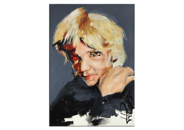 """Porträt, J.J. Piezanowski: """"ET COMME UN ROBINET QUI FUIT..."""", Originalgemälde (Unikat)"""