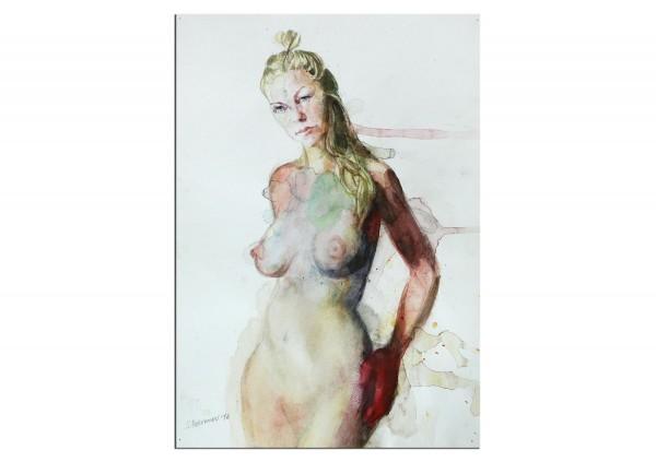 """Aquarellmalerei, Stefan Petrunov: """"Nude II"""" (A)"""