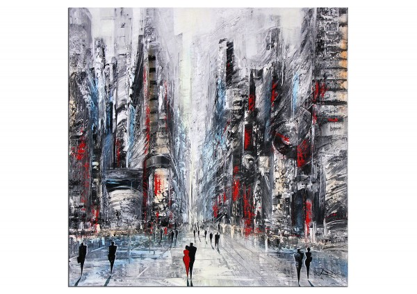 "Modernes Gemälde, K. Namazi: ""Lebendige Stadt I"" (A)"