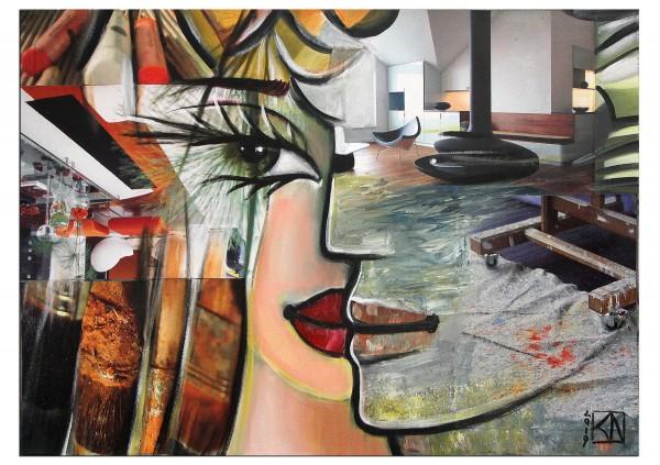 "Moderne Kunst von K. Namazi: ""Seelenpartner III"" (A, ri)"