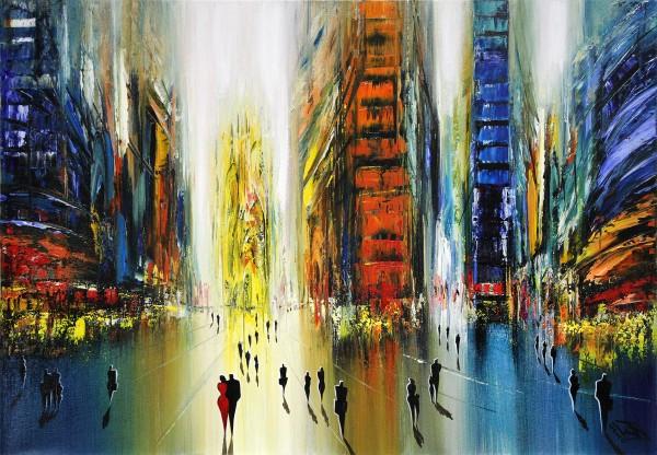 "K. Namazi: ""Urbanes Farbspektrum III"", originales Acrylgemälde (Unikat) (A)"
