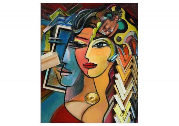 """Abstrakte Kunstbilder, K. Namazi: """"Szenen einer Liebe II"""" (ri)"""