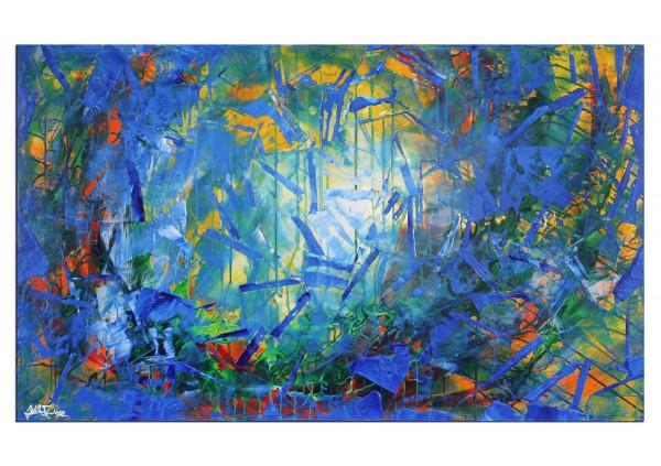 "Acrylbilder, J. Fernandez: ""Subtiles Feuer I"" (ri)"