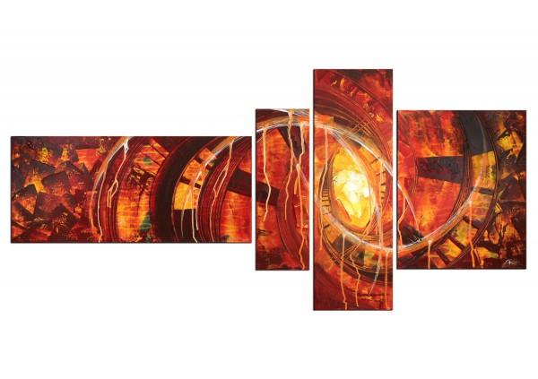"""Acrylbilder, R.König: """"Timelapse V"""" (ri)"""