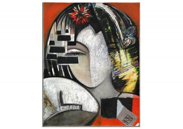 """Moderne Kunst von K. Namazi: """"Zweite Hälfte"""" (ri, A)"""