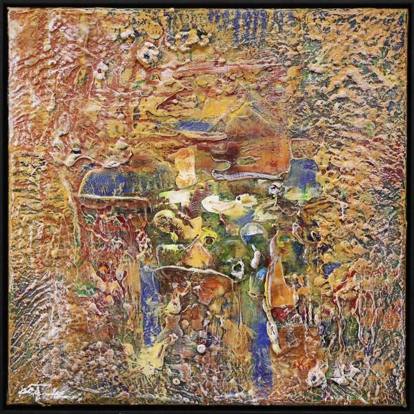 """J. Fernandez: """"Totem I"""", moderne Originalkunst (Unikat) (ri)"""