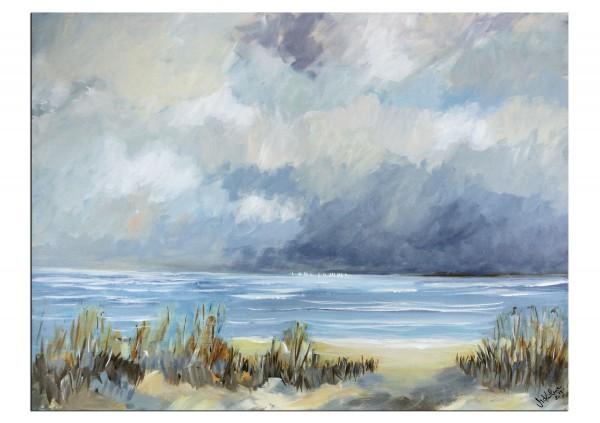 "Modernes Acrylgemälde, M.Kühne: ""Sturmwolken"", Originalgemälde (Unikat)"