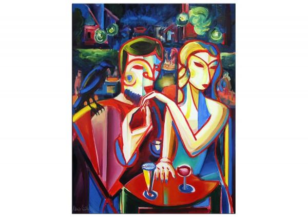 """Expressionistische Ölmalerei, Maciej Cieśla: """"Der Verehrer III"""""""