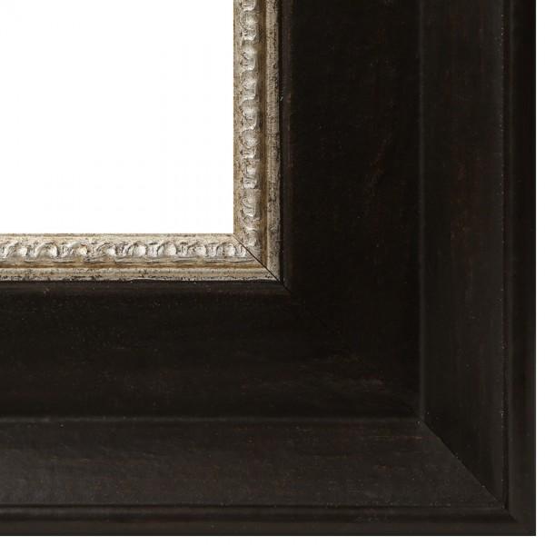 Premium Bilderrahmen Holz schwarz/silber HR-910012-ssi, inkl. Blendrahmbleche