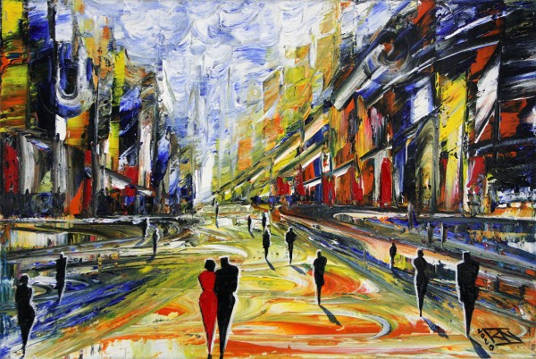 "K. Namazi: ""Urban Landscape I"", Originalgemälde (Unikat) (ri)"