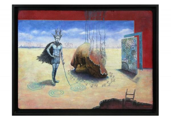 """Ölgemälde: psychologischer Realismus von André Mimor: """"Einladung"""" (A)"""