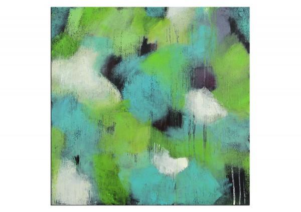 """Abstrakte Acrylmalerei, M.Rick: """"Vorfreude auf den Frühling"""""""