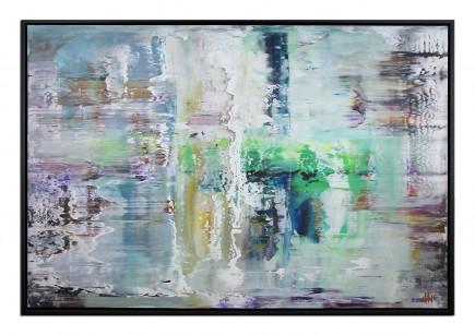 """Abstrakter Expressionismus, G. Hung: """"REALITÄTSVERSCHIEBUNG I"""" (ri)"""