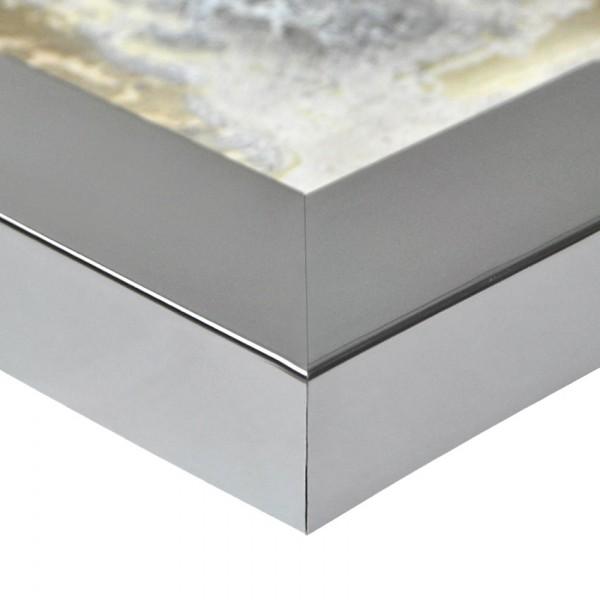 Premium Bilderrahmen, Fotorahmen chrome HR-401064-cg, inkl. entspiegeltem Echtglas