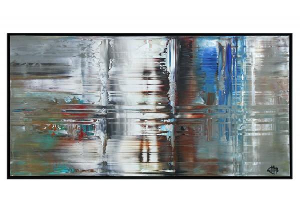 "Acrylgemälde, G. Hung: ""Urbane Streiflichter I"" (ri)"