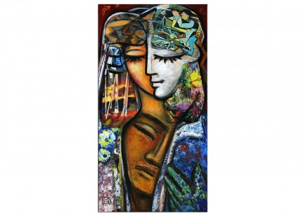 "Modernes Gemälde, K. Namazi: ""Geborgenheit I"" (E)"