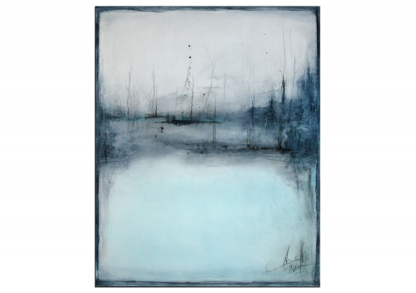 "Acrylbilder abstrakt, A. Freymuth: ""Im Nebel"""