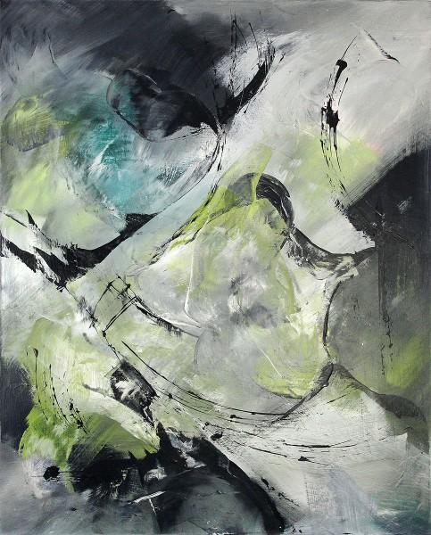 "C. Middendorf: ""Steinbruch IV"", abstraktes Originalgemälde (Unikat) (A)"