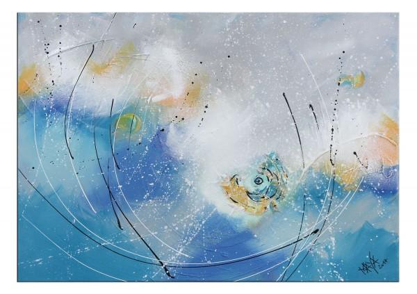 """Gemälde abstrakt, Maya: """"Strandtag"""""""