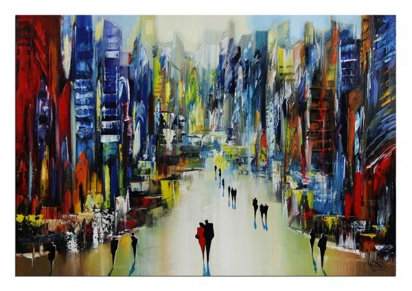 "Modernes Gemälde, K. Namazi: ""Urbanes Sumpfgebiet I"""