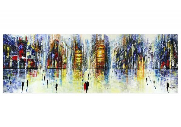 "Modernes Gemälde, K. Namazi: ""Urbane Vorfreude I"" (A)"