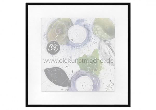 Premium Bilderrahmen, schwarz, inkl. entspiegeltem Echtglas & Passepartout/weiß, HR-M2030A12-pp6000