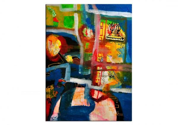 """Acrylgemälde, E.v.d.Meer: """"THE STREET"""""""