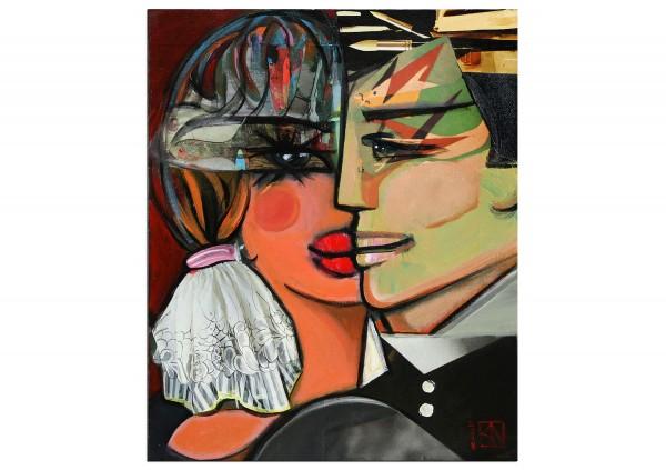 """Abstrakte Kunstbilder, K. Namazi: """"Madame ist in festen Händen"""""""