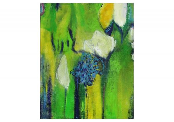 """Abstrakte Acrylmalerei, M.Rick: """"Frühlingsblüten"""" (A)"""