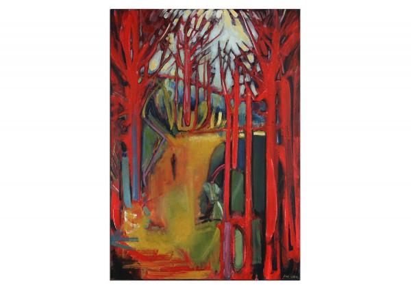"Expressionistische Acrylmalerei , Maciej Cieśla: ""Natur, Wandern Einsamkeit I"""