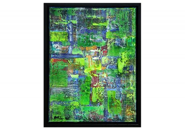 """Modernes Kunstbild, Julio Fernandez: """"Reste einer Pinnwand"""" (ri)"""