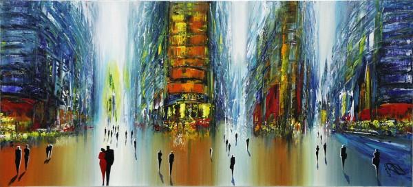 "K. Namazi: ""Später Abend I"", originales Acrylgemälde (Unikat) (ri)"