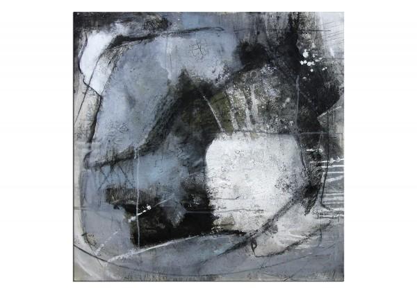 """Acrylbilder abstrakt, M.Rick: """"SINFONIE IN GRAU"""""""