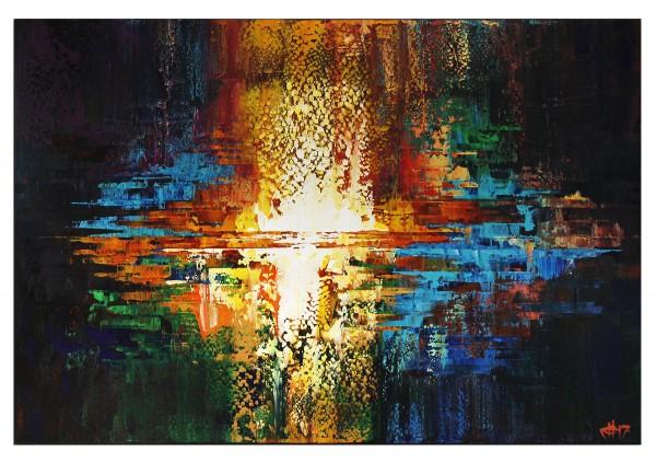 "Acrylgemälde, G. Hung: ""Elementar II"""