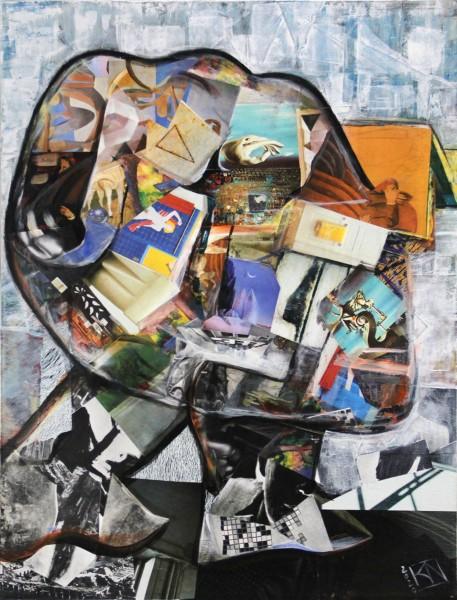 "K. Namazi: ""The Thinker II"", modernes Originalgemälde (Unikat) (ri, A)"