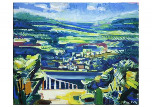 """Expressionistische Ölmalerei, Maciej Cieśla: """"Toskana, die Küste I"""""""
