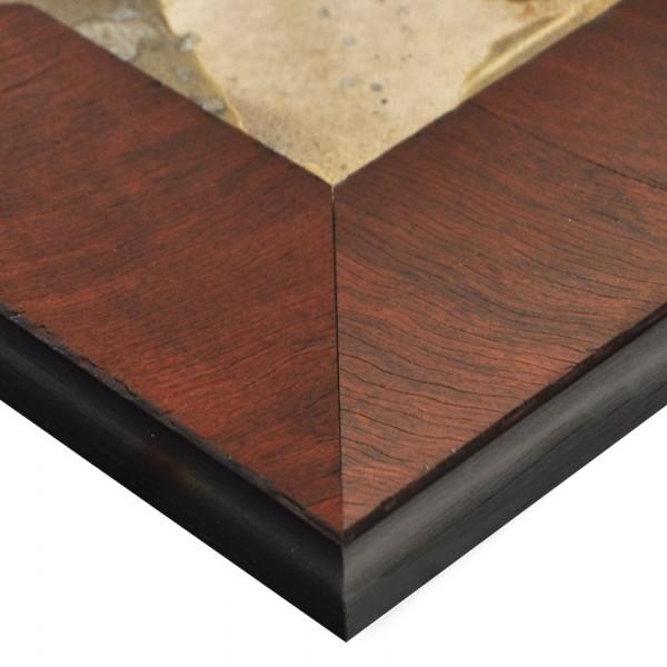 Premium Bilderrahmen, Fotorahmen Vintage-rotbraun HR-70506-rbg, inkl. entspiegeltem Echtglas